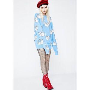 RipNDip Falling for Nermal Cat Print Knit Sweater